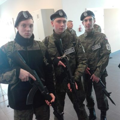 Galeria klasa wojskowa, wizyta 10 Pułku Dowodzenia